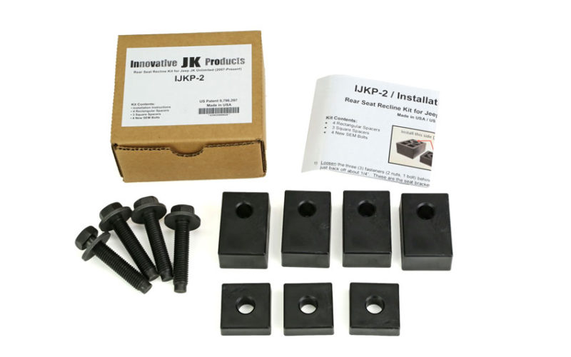 Innovative JK Products Rear Seat Recline Kit for Jeep JKU Wrangler 4-Door
