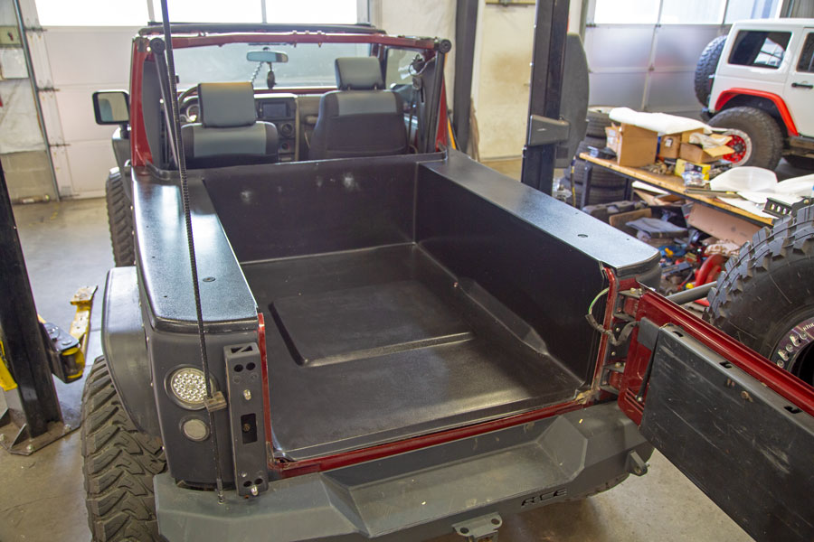 dv8 truck bed in jeep jk